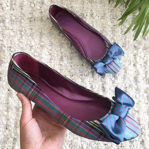 Coach Poppy Cambria Flats Plaid Tartan Size 11B